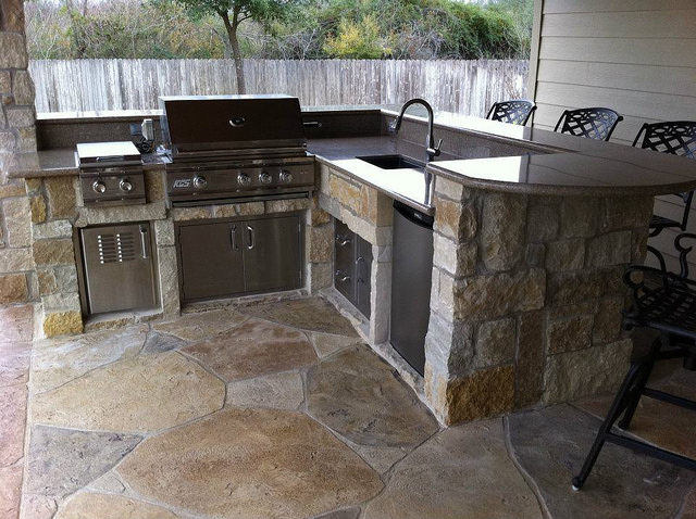 patio bar ideas heres a cool wooden backyard patio bar norwood ma masonry patio bar - Patio Bar Ideas
